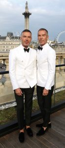 LONDON, ENGLAND - JUNE 13: Left-Right: Dan and Dean Caten attends Dsquared2's 20th anniversary celebration at Canada House, co-hosted by GQ at Canadian Embassy on June 13, 2015 in London, England. (Photo by David M. Benett/Getty Images for DSQUARED2) *** Local Caption *** Dan Caten; Dean Caten