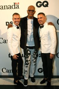 attends Dsquared2's 20th anniversary celebration at Canada House, co-hosted by GQ at Canadian Embassy on June 13, 2015 in London, England.